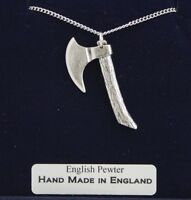 Hatchet Necklace in Fine English Pewter, Hand Made and Gift Boxed