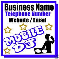 MOBILE MUSIC DJ BUSINESS MAGNETIC CAR / VAN SIGN