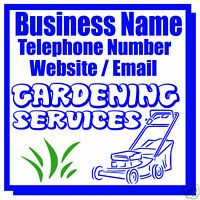 GARDENING BUSINESS MAGNETIC SIGN CAR / VAN 1 PAIR