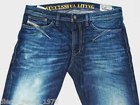 BRAND NEW DIESEL SHIONER 880W JEANS 30X34 100% AUTHENTIC SKINNY FIT TAPERED LEG