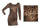 NEW LEOPARD PRINT BODYCON DRESS SIZE 6-12