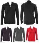 NEW LADIES PLUS SIZE CABLE FRONT KNITTED ZIP UP SWEATER CARDIGAN SIZE 14-24