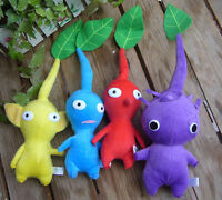New 4pcs Pikmin Red Yellow Blue Purple Leaf Plushies Doll Toy Lovely Gift cute
