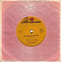 DEAN MARTIN Not Enough Indians / Rainbows Are Back in Style  45