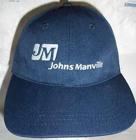 J M Johns Manville Lowe's Building Supply Navy Blue Salesman Cap  Hat Golf