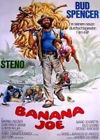 BANANA JOE Orig. Filmplakat BUD SPENCER / MARINA LAGNER Erstaufführung 1982