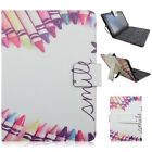 Love PU Leather Micro USB Keyboard Case Stand Cover for 7
