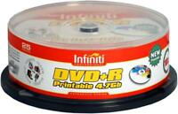 25 Infiniti Blank Recordable Discs DVD DVD+R Printable 16x4.7Gb