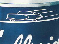 Gulfpride MOTOR OIL Can --- Gas Station SIGN -- Shows Old Car On Can Speeding By