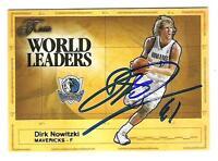 Dirk Nowitzki AUTOGRAPH FLAIR WORLD LEADERS INSERT BASKETBALL CARD SIGNED
