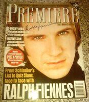 Ralph Fiennes Authentic Hand-Signed Premiere Magazine AFTAL Autograph Signature
