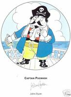 CAPTAIN PUGWASH in person signed 12x8 Ltd Ed JOHN RYAN