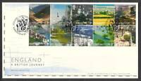 2006 ENGLAND A BRITISH JOURNEY  BLOCK OF 10 ON FDC