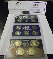 2007 U.S. MINT PROOF SET W/STATE QUARTERS & PRESIDENTIAL DOLLARS & COA -14 COINS
