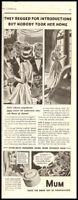 1938 vintage ad for Mum's ladies Deoderant