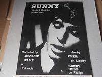 GEORGIE FAME  sheet music SUNNY