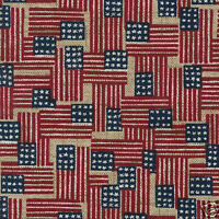 "Longaberger 10"" Generations Basket Old Glory Flag Fabric Over Edge LIner New"