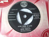 "ELVIS PRESLEY 7""single A BIG HUNK O'  LOVE  tri centre"