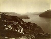 France Savoie Lac du Bourget Lake Panorama Old Photo 1890