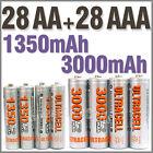 28 AA+28 AAA 1350mAh 3000mAh 1.2V NI-MH rechargeable battery 2A 3A Ultracell