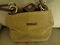 ROSETTI Purse Satchel Handbag Shoulder Bag Brown Weave Purse + Coin Purse L@@K