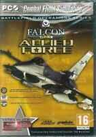 Falcon 4, Allied Force, F-16 Air Combat Flight Simulator, PC Sim, XP Vista 7 NEW