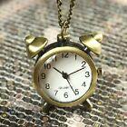DESPERTADOR Reloj de bolsillo Mujer con cadena larga Vintage bronce Colorido