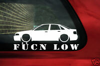 Audi S4 (B5) A4 1.8t TDi saloon Fukn Low Lowered VAG car sticker