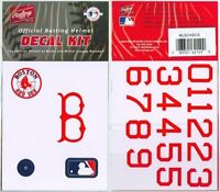 Boston Red Sox Rawlings Authentic MLB Helmet Decal Kit