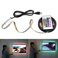 USB Powered 5V RGB LED Strip light 60leds/m 3528 SMD Tape For TV Background