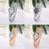 Fashion Ladies Women Rhinestone Stainless Steel Luxury Gold Quartz Wrist Watch