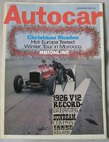 Autocar magazine 25/12/1969 featuring Else Lotus Europa road test, Sunbeam