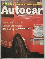 Autocar magazine 13/11/1969 Mini 1275GT road test, Monteverdi high speed 375S