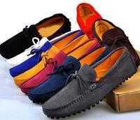 Mens UK Size 5.5-11.5 Comfort Suede Leather tassel slip-on Loafer shoes 13Colors