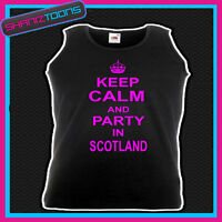 KEEP CALM AND PARTY IN SCOTLAND CLUBBING HEN PARTY UNISEX VEST TOP
