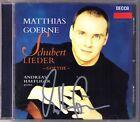 Matthias GOERNE Signed SCHUBERT Goethe-Lieder HAEFLIGER CD Andreas Erlkönig