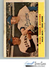 1958 Topps #436 Rival Fence Busters Willie Mays Duke Snider - FAIR, *SEWALL*
