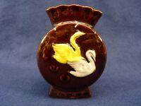 Vintage Occupied Japan Swans Figurine Vase Porcelain (pt245)