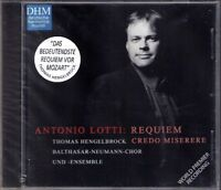Antonio LOTTI 1667-1740 Requiem Credo Miserere THOMAS HENGELBROCK CD DHM