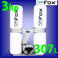 FOX F50-843 240v 3Hp 307 Litre Portable Dust Extractor extraction 3Yr Warranty