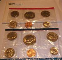 1979 D/P U.S. MINT SET IN ORIGINAL MINT PACKAGING - 2 SUSAN B. ANTHONY DOLLARS.
