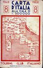 CARTA D'ITALIA ALLA SCALA DI 1:500.000 - FOGLIO 8 - ANNO 1941- CENTRO/MERID.LE
