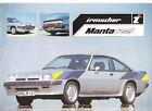 IRMSCHER MANTA OPEL - 1981 / catalogue brochure prospekt dépliant catalog folder