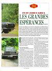 FIAT 2300 S GHIA / 1992 ESSAI ARTICLE PRESSE REPORTAGE COUPURE MAGAZINE