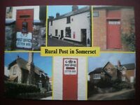 POSTCARD RP ROYAL MAIL RURAL POST IN SOMERSET - MULTI VIEW