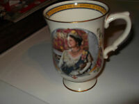 1980 CROWN STAFFORDSHIRE  MUG FOR THE 80TH BIRTHDAY OF THE QUEEN MOTHER
