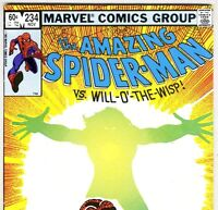 The Amazing Spider-Man #234 vs. Will-O'-The-Wisp! from Nov. 1982 in VG con. DM