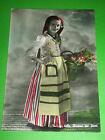 Cartolina Costumi Liguri - Ragazza con i fiori 1955 ca
