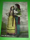 Cartolina Costumi Liguri - Coppia di innamorati 1955 ca