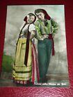 Cartolina Costumi popolari Liguri - Fidanzatini 1955 ca